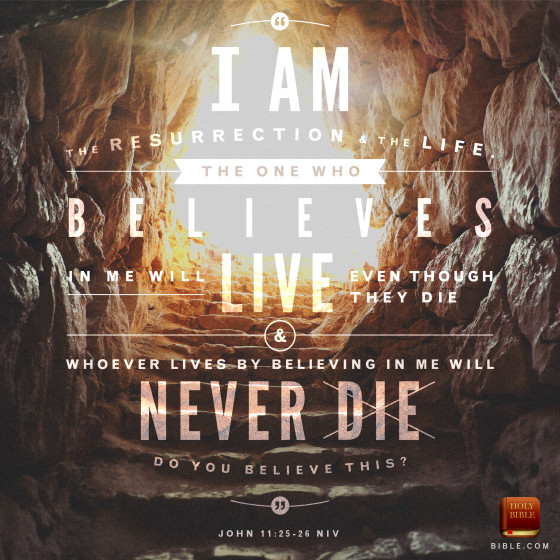 "Jesus is the resurrection and the life. the one who believes in Him will live even though they die and whoever lives by believing in me will never die. to download the artwork, please click on the picture or <a href=""http://blog.youversion.com/vod/"" target=""_blank"">here</a>. Feel free to share with your family and friends."