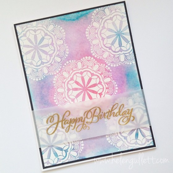 Batik Happy Birthday Card, By Helen Gullett