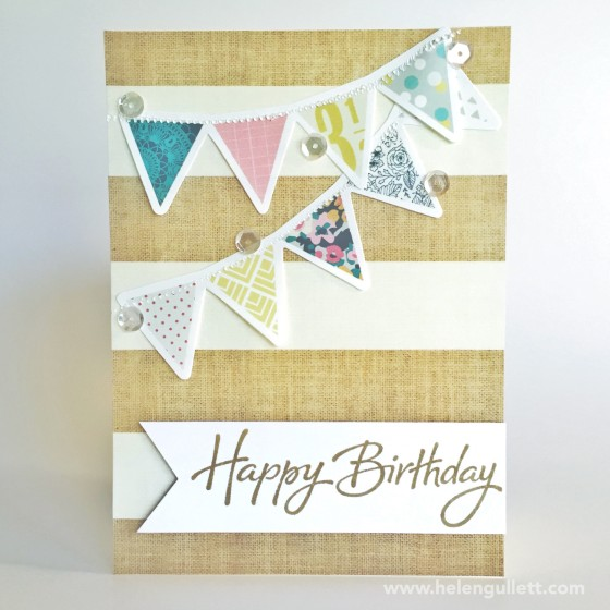 Joyful Birthday Banner Card | http://helengullett.com/?p=7361 #CTMH #WRMKFuse #WRMK #neatandtangled #HSN #creatingjoyfully #DIY #cardmaking #handmadecard