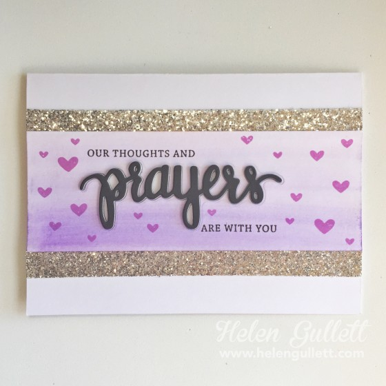 Sending Prayers | Helen Gullett www.helengullett.com #creatingjoyfully #heroarts #simonsaysstamp #stamptember #prayers #stamping #diecutting #wermemorykeepers #wrmk #EvolutionAdvanced #watercoloring
