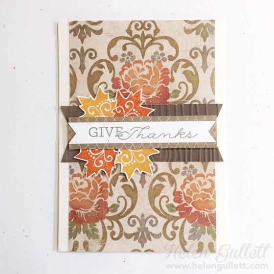 CCC October 2015 - Give Thanks | www.helengullett.com #CTMH #cardchainchallenge #ccc #handmadecard #cardmaking #thanksgivingcard
