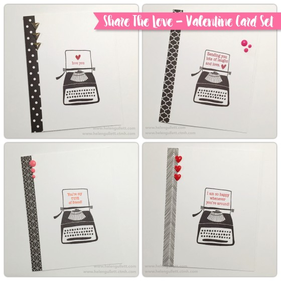Share The Love Card Set by Helen Gullett | http://wp.me/p1DmW0-2bU #ctmh #ctmhsharethelove #closetomyheart #lovinLaVie #cardmaking #handmadecard #valentinecard