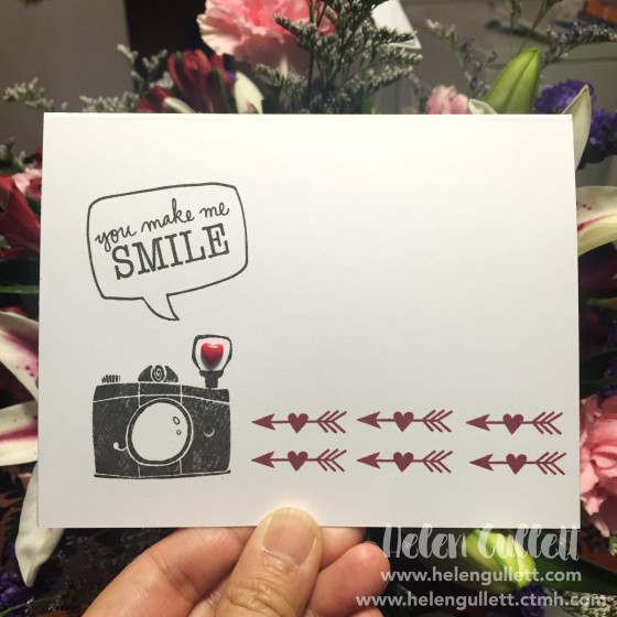 Create grungy / sketchy look on the camera using Kissing Technique (hmmm... 😁) Link to the tutorial and more are on my blog --> http://helengullett.com/?p=8501 (or link on profile) #ctmhsharethelove #ctmh #cleanandsimplecard #onelayercard #valentinecard #handmadecard #cardmaking #stamping