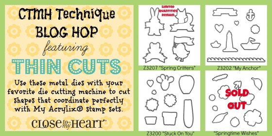 CTMH Technique Blog Hop: Thincuts