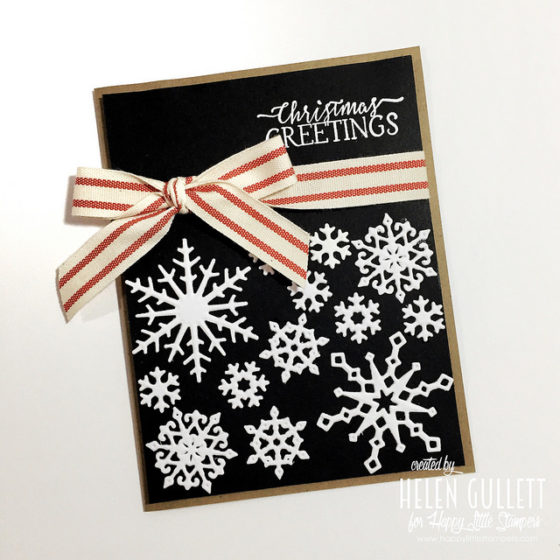 Lots Of Snow Crystals Christmas Card | by Helen Gullett | http://helengullett.com/?p=10492
