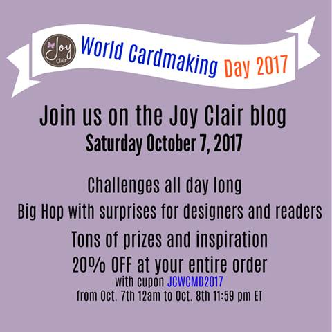 Joy Clair World Cardmaking Day 2017 Big Blog Hop