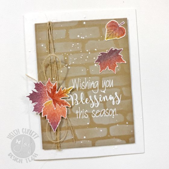 Joy Clair November Challenge Fall Leaves Mixed Media Card