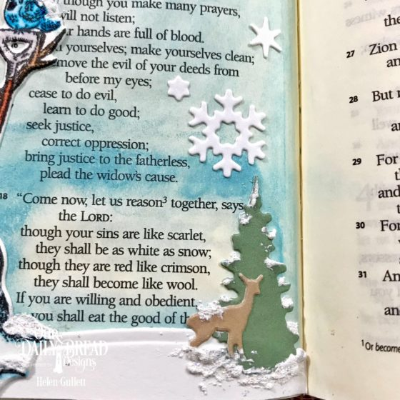 Our Daily Bread Designs White As Snow Bible Journaling Page