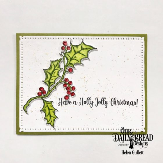 Holly Jolly Christmas CAS Card - Living My Given Life