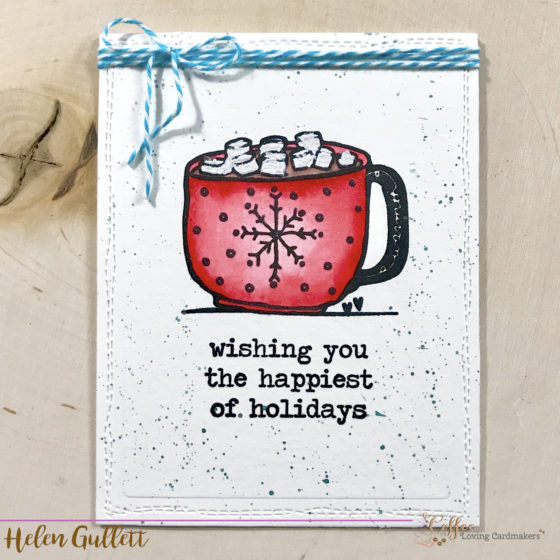 Growing In Unity Day 4: Hot Cocoa Mixed Media One Layer Card