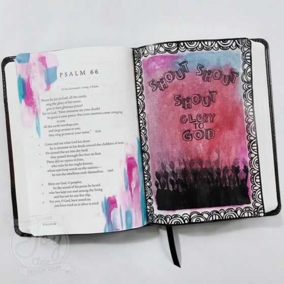 Joy Clair Color By Faith Praise The Lord Psalms 66 Bible Journaling