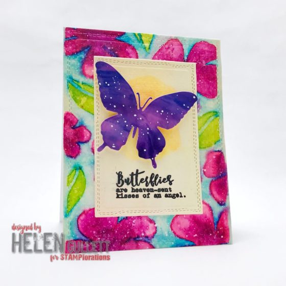 Butterfly Floral Mixed Media Card CUTplorations January Challenge