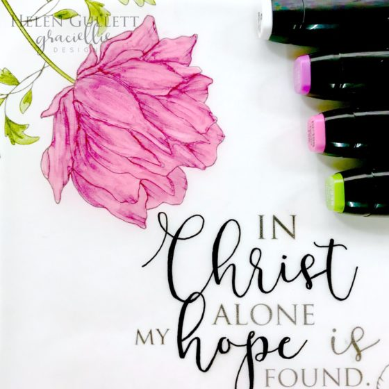 Graciellie Design In Christ Alone Bible Journaling on Ephesians 1:11-14