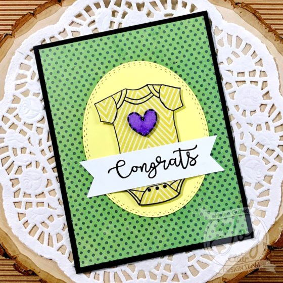 Joy Clair Mardi Gras Event 2018 - New Baby Congrats Card