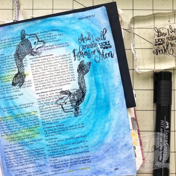 Mixed Media Card and Bible Journaling Page with Joy Clair and MISTI