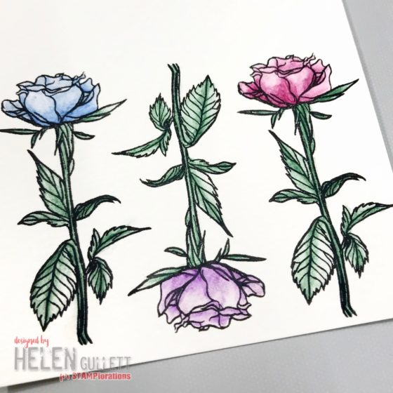 CAS Sympathy Cards with STAMPlorations, Leisure Arts Watercolor Colored Pencils and Imagine Crafts Inks